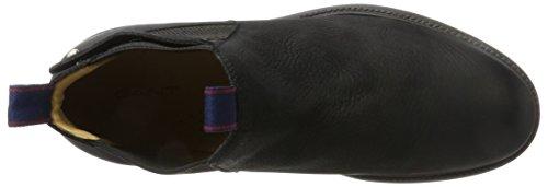 GANT Herren Nobel Chelsea Boots Schwarz (Black)