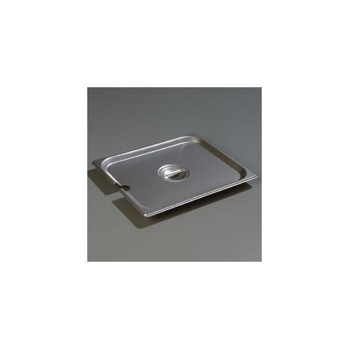 Carlisle DuraPan Steam Table Pan Cover, 1/2-size, slotted, flat, lift-off, recessed handle, dishwasher safe, 24 gauge 18/8 stainless steel, 607120CS