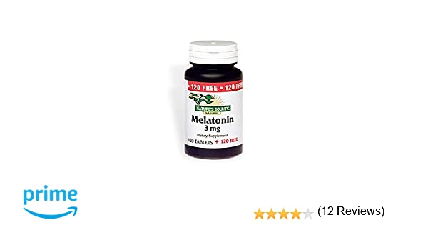 Amazon.com: Natures Bounty Melatonin 3mg, 240 Tablets: Health & Personal Care