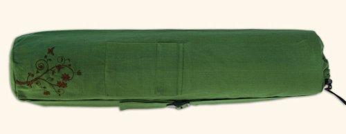 Wai Lana Green Organic Cotton Yoga Mat Tote Color: Willow (G-1191) ()
