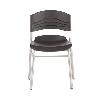 Iceberg 64517 CaféWorks Chair, Blow Molded Polyethylene, Graphite/Silver, 2/Carton
