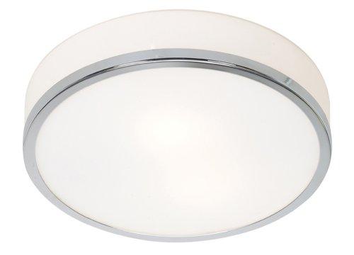 "Aero - 1-Light 10""dia Flush Mount - Chrome Finish - Opal Glass Shade from Access Lighting - HI"