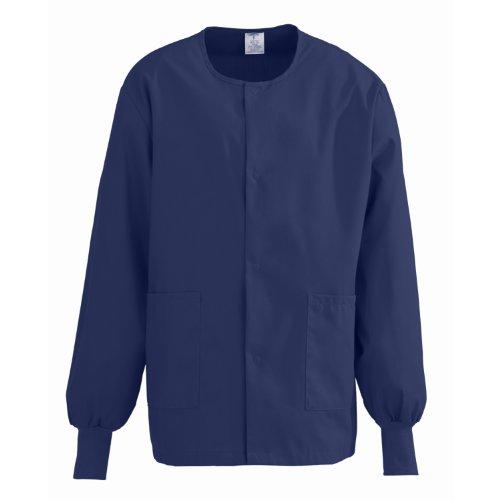 Medline ComfortEase Unisex Warm-Up Scrub Jacket, Medium, Midnight - Jacket Womens Medline