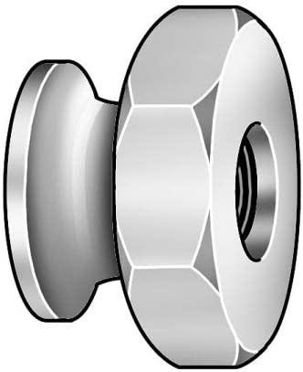 18-8 Stainless Steel Thumb Nut with 4-40 Thread Size and Passivated Finish; PK5-7220SS, Pack of 2