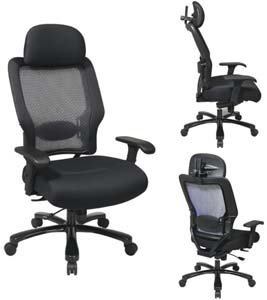 Office Chair with Air Grid Back and Mesh -