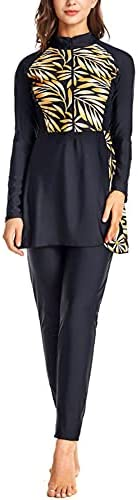 KXCFCYS Muslim Swimsuits for Women Modest Swimwear Plus Size, Long Sleeve Swimming Suit Burkini