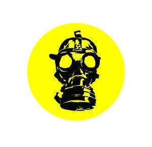 amazon com 3 gas mask zombie funny hard hat helmet vinyl decal