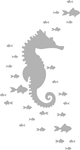 Sea Horse Design 3 - Coastal Design Series - Etched Decal - For Shower Doors, Glass Doors and Windows - 26