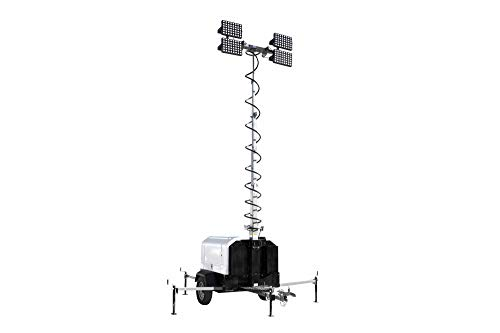 Hydraulic Light Tower w/Diesel Engine Generator - 4X500 Watt LED Lamps - 90mph Wind Rating