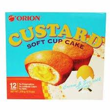 Orion Custard-TIRAMISU SOFT CAKE, CHOCO PIE, NO PRESERVATIVES, MSG, COLORS ADD. 9.73 Oz (12 Pieces) (ORION CUSTARD)
