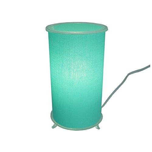 Abajur Cilíndrico Revestido com Tecido Crie Casa Verde Claro