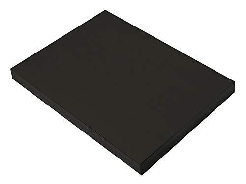 SunWorks Construction Paper, Black,  9