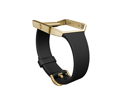 Fitbit Blaze Accessory Band, Slim Black Gold, Small