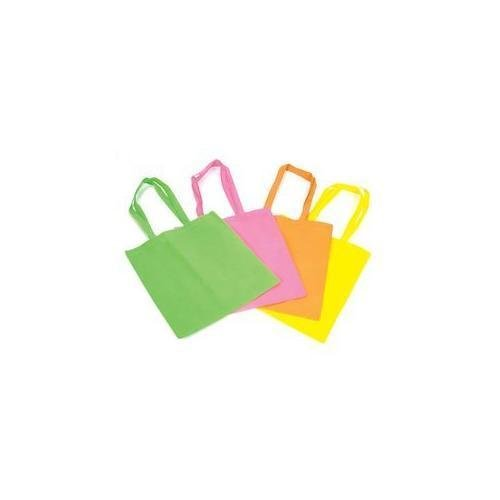 12 Large Neon Tote Bags Assorted Colors New