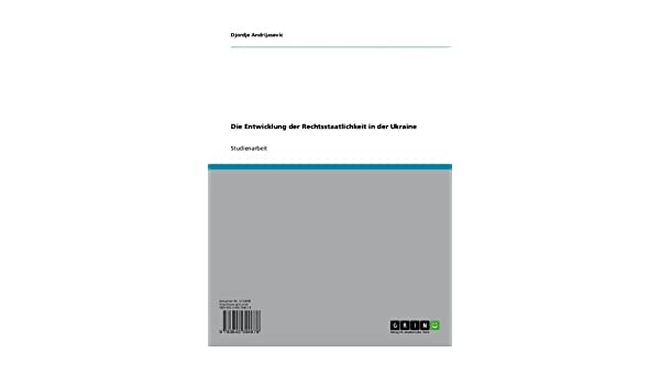 Die Entwicklung der Rechtsstaatlichkeit in der Ukraine (German Edition)
