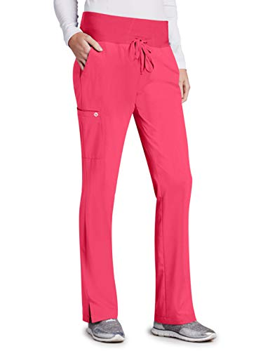 Barco One 5206 Midrise Cargo Pant Pink Lemonade L Petite ()