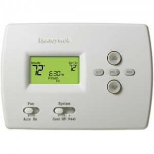Honeywell TH4110D1007 PRO 4000 5+2 Day Programmable Thermostat, 1H/1C, Dual (Pro 4000 Series)