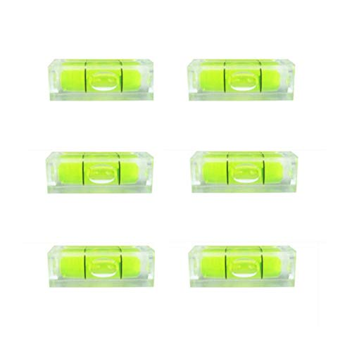 6Pcs/Set Small Bubble Level Frame Mural Hanging 10x10x29mm Mini Square Spirit Level Picture Hanging Levels Mark Measuring Instruments Layout Tools