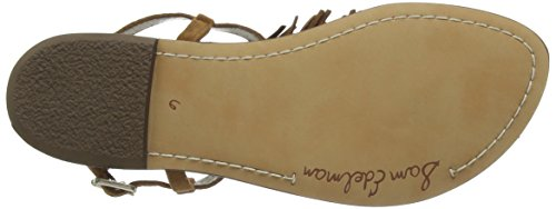 Sam Edelman Gela - Sandalias de tobillo Mujer Brown (Saddle Kid Suede)