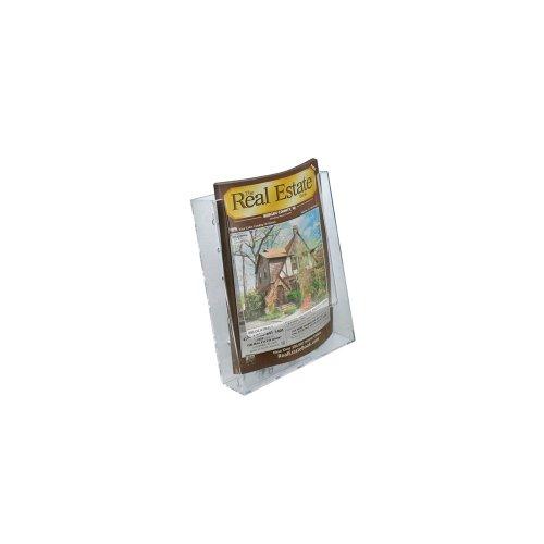 Azar 252301 Single Pocket Bi-Fold Size Brochure Holder for Counter, 10-Pack by Azar Displays