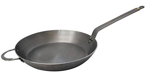 - MINERAL B Round Carbon Steel Fry Pan 14-Inch