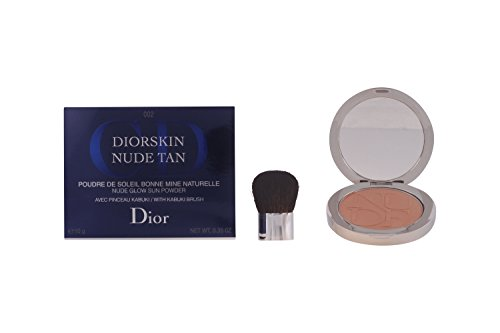 Christian Dior Nude Glow Sun Powder Kabuki Brush, 002 Amber, 0.35 Ounce