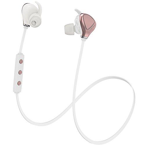 InzhiRui Best Wireless Sport Running Workout Earbud Sweat Proof Bluetooth Headphone, Cordless (Retractable Earbuds Ipod)