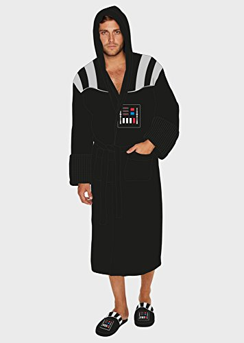 Star Wars Darth Vader Outfit Adult Fleece Bathrobe with Sound Effect