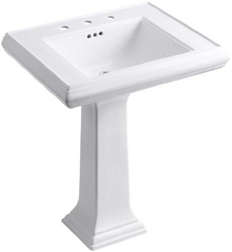 Memoirs White Pedestal (KOHLER K-2258-8-0 Memoirs Pedestal Bathroom Sink with 8