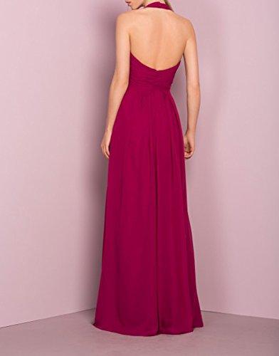 Amore Longue Des Femmes De Mariée Robe De Demoiselle D'honneur Mariage Robe De Bal Licol Violet