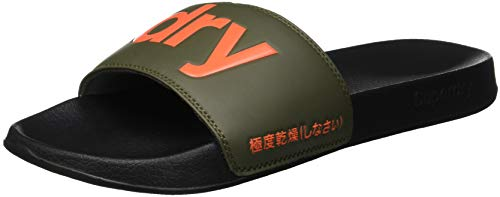 Chanclas Black Negro Superdry Hombre Gs8 Slide Olive Pool para fxAEY