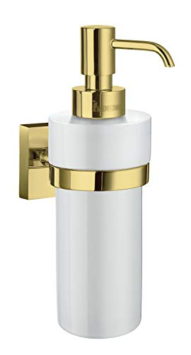 Smedbo House Soap Dispenser RV369P Polished Brass .Include Glue.Fixing Without Drilling