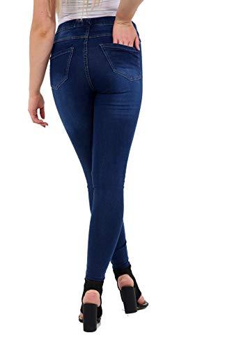 Avec Denim 36 Foncé Jegging Plus Tailles Stretchy Bleu Skinny Women Jeans Poches Mesdames 56 gf6yIv7mYb