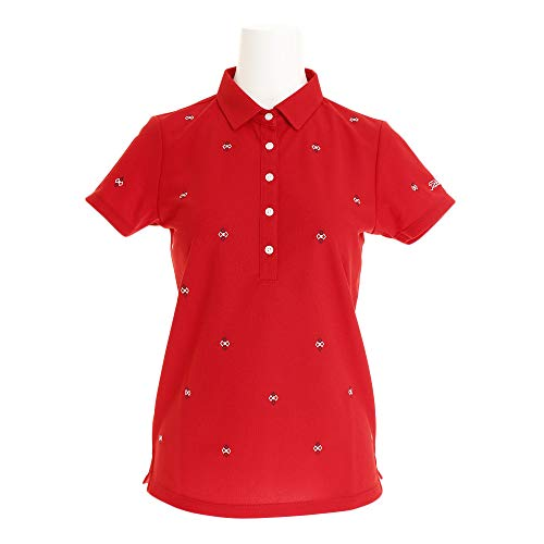 タイトリスト TITLEIST 半袖シャツ?ポロシャツ 総刺繍柄半袖ポロシャツ レディス レッド L