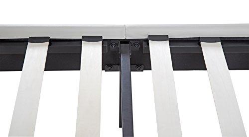 Olee Sleep 14 Inch Faux Leather Wood Slate Folding Platform R Burton Bed Frame 14PB03F