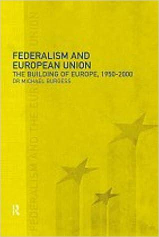 federalism and european union burgess michael
