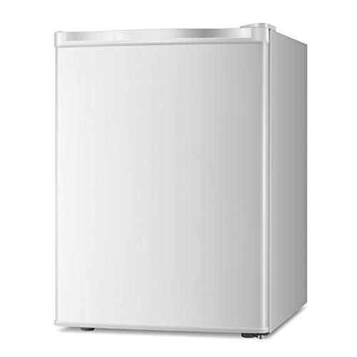 AGLUCKY Compact Freezer Refrigerator Mini Refrigerator Small Drink Food Storage Machine with Freezer and Reversible Door for Dorm, Basement or Office, Single Door Mini Fridge,(White)