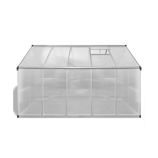Tidyard Serra in Alluminio Rinforzato con Telaio di Base 7,55 m²,per Piante orto casetta Esterno 4 spesavip