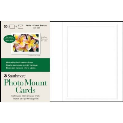 Strathmore ST105-232 Embossed Photo Mount Cards 50-Pack