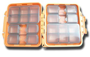 Meiho Waterproof Component System Fly Box - 14 Compartment - Orange -