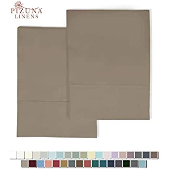 400 Thread Count Cotton Standard Pillowcases Ginger Snap 100% Long Staple Cotton Soft Satin Pillowcase with Stylish 4 inch Hem, Set of 2 Pillow Cover (Ginger Snap Standard 100% Cotton Pillow Cases)