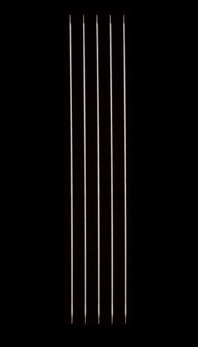 HiyaHiya Double Point 8-inch (20cm) Steel Knitting Needles (Set of 5); Size US 000-00 (1mm) HISTDP8-5-0