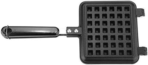 YXMG 2 tranches Gaufrier avec revêtement Anti-adhésif, poignée de bakélite Fermeture Loquet Easy Clean Stove Top Waffle