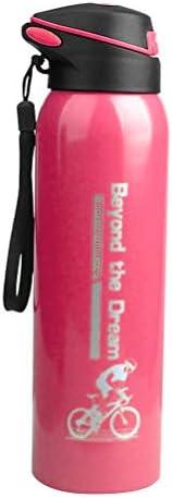 スポーツバキュームカップ絶縁断熱ストローリークプルーフダブルボトルボトル500ミリリットル