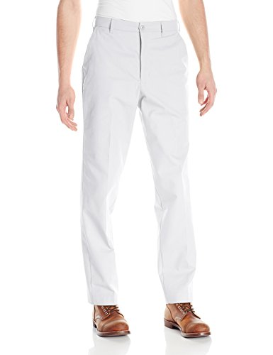 Red Kap Men's Wrinkle-Free Work Pants, White, 33x32 Mens White Slacks