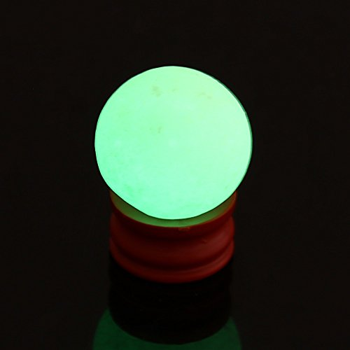 Glow In The - 35mm Natural Luminous Stone Calcite Green Glow In The Dark Sphere Ball Crystal W Base Round Home - Slime Fingernail Makeup Masking Bowl Body Pebbles Ceiling Paint Nerf Tatto