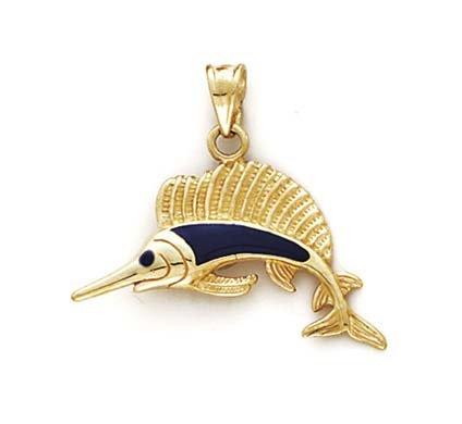 SwordFish 14 carats-Émail-JewelryWeb