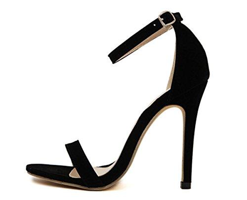 Donne YCMDM'S 35-43 grandi pattini romani degli alti talloni dei sandali singola scarpa Scarpe Casual , black , 36