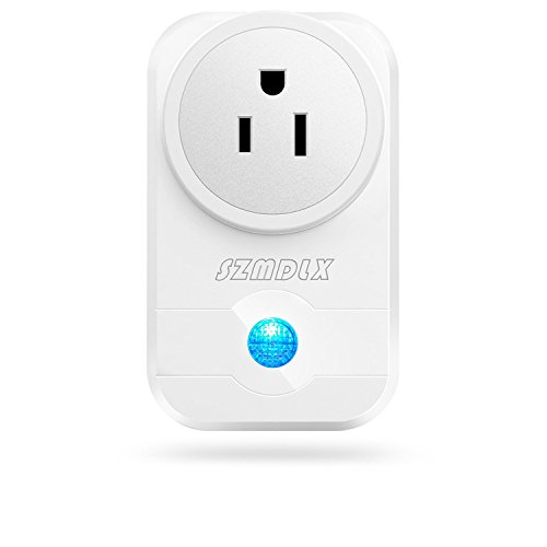 Price comparison product image Wifi Plug, SZMDLX 1 Pack Smart Plug Smart Outlet Timer Socket Wifi Switch Timing Function Remote Control by Smartphone or Amazon Alexa Google Home No Hub Required