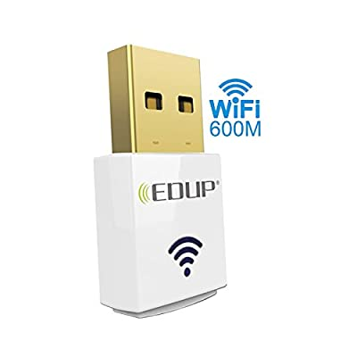 Hitechway Wireless Mini AC600 3.0 USB Dual Band wifi Adapter, 2.4Ghz/ 5Ghz 600Mbps Wifi Dongle for Windows XP / VISTA / WIN7 / 8/ 8.1 /10 ,Mac OS X 10.6-10.11.5 (El Captain)/Linux by Hitechway